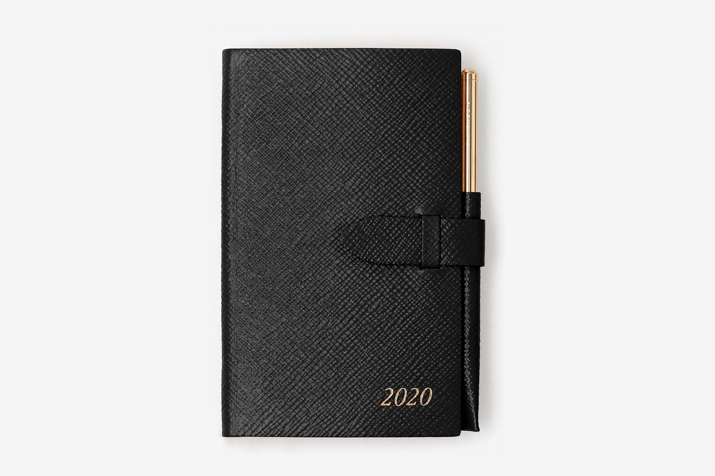Smythson Panama Diary with Gilt Pencil
