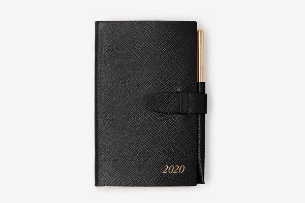 Smythson Panama Diary with Gilt Pencil