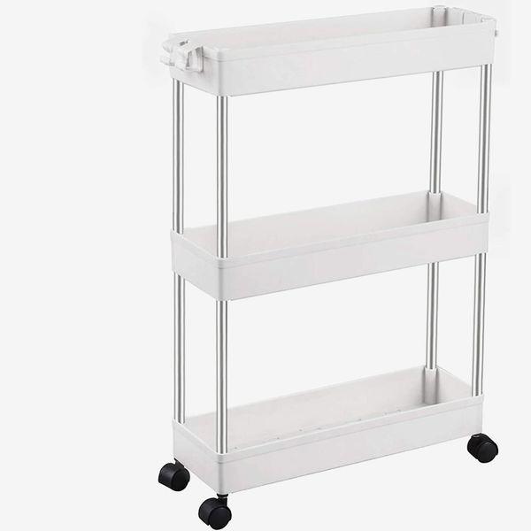 SPACEKEEPER 3-Tier Slim Storage Cart