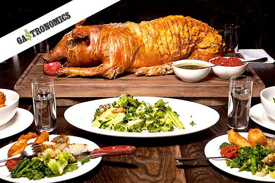 The suckling pig dinner at the Breslin is actually a pretty good deal.