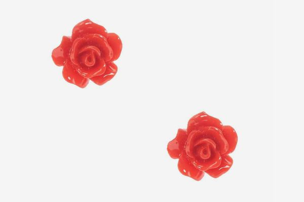 Claire's rose earrings