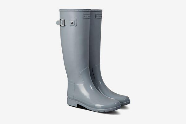 Hunter Refined Gloss Tall Duo Waterproof Rain Boot