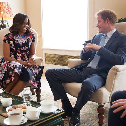 Michelle Obama and Prince Harry.