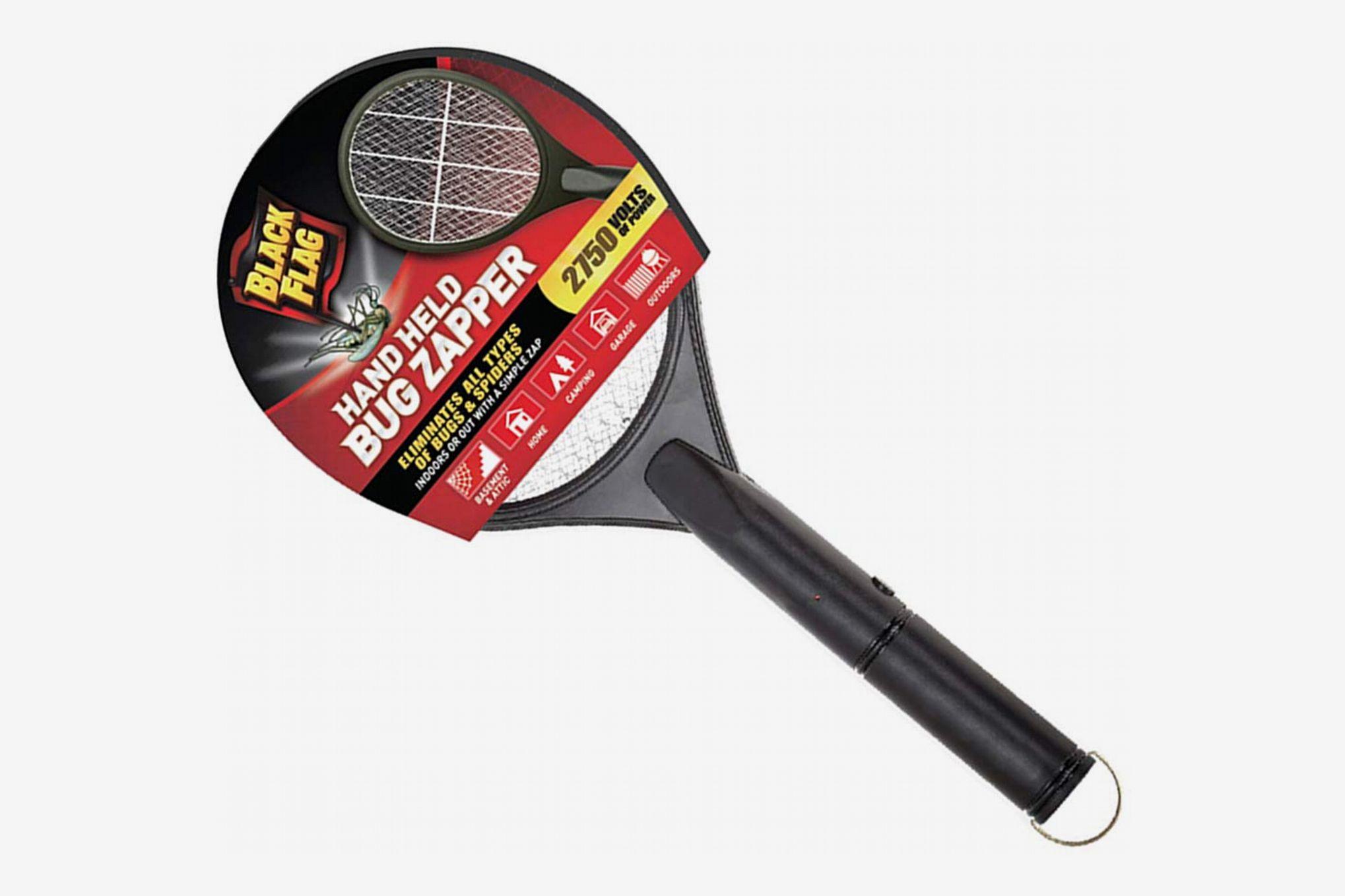 Black Flag Handheld Electric Bug Zapper Racket