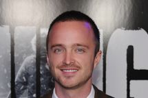 "UNIVERSAL CITY, CA - OCTOBER 10:  Actor Aaron Paul arrives at the premiere of Universal Pictures' ""The Thing"" at Universal Studios Hollywood on October 10, 2011 in Universal City, California.  (Photo by Kevin Winter/Getty Images)"