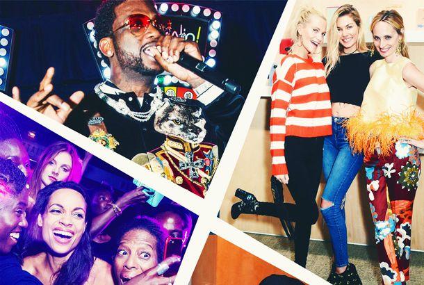 7fae74ef17 Iris Apfel and Paris Hilton Partied Last Night at NYFWPlus Rosario Dawson