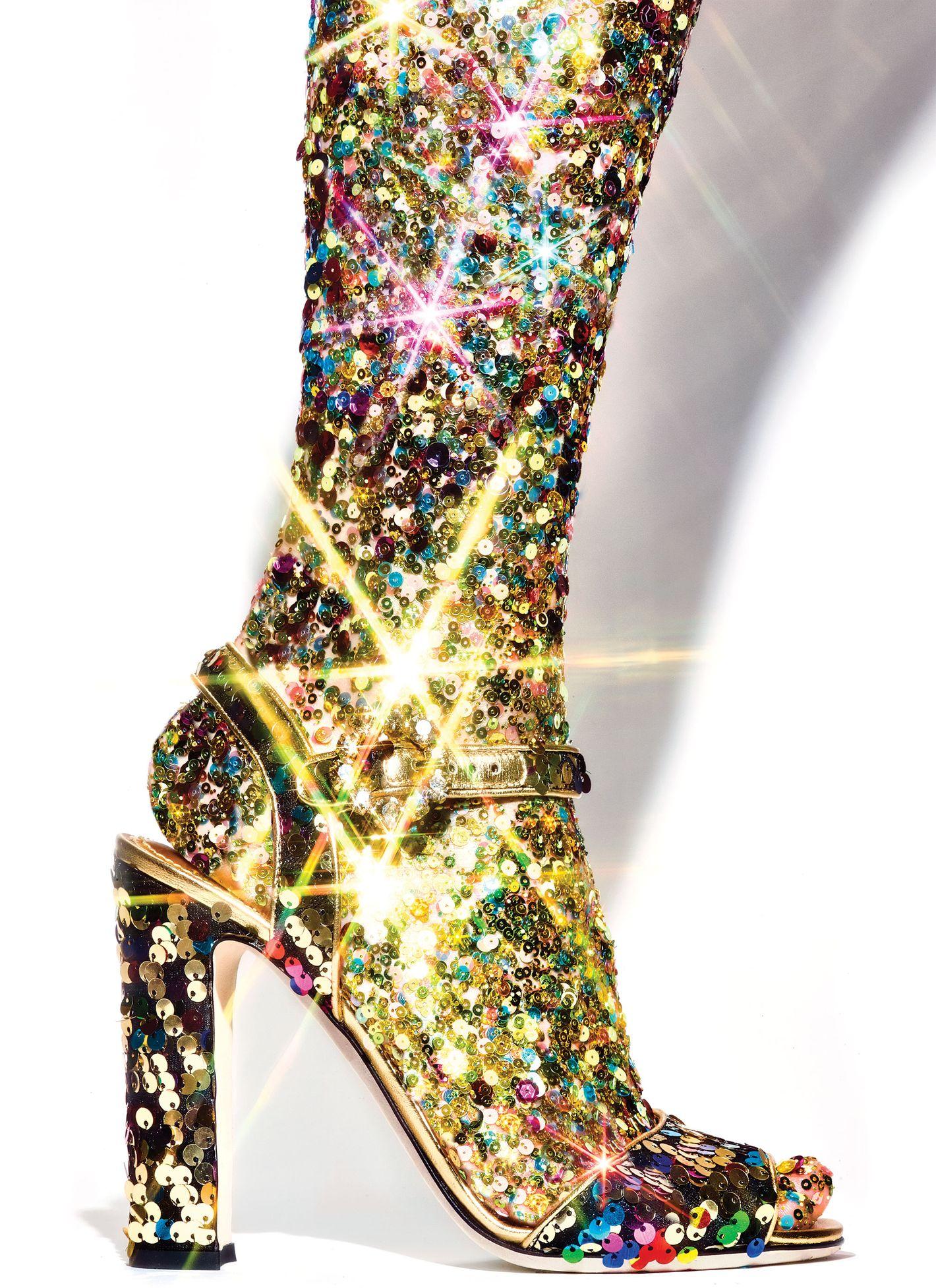 Dolce & Gabbana Sequin Sandal