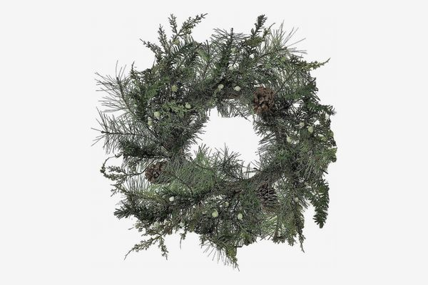 Winter Farm Pine Cone Wreath - 24