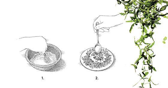 In Season: Travis Post's Chrysanthemum Greens Salad With Sesame Dressing