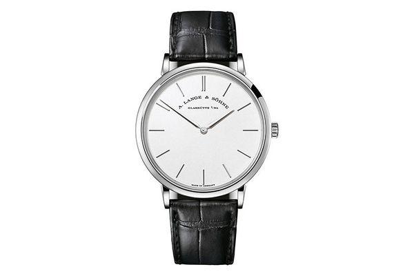 A Lange & Sohne Saxonia Thin Silver Dial 18K White Gold Men's Watch