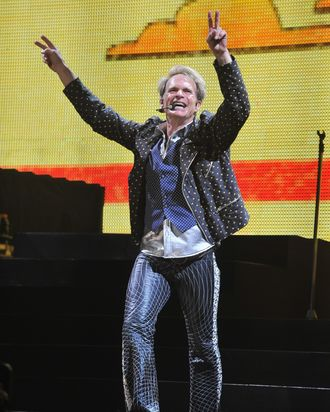 David Lee Roth of Van Halen performs during their