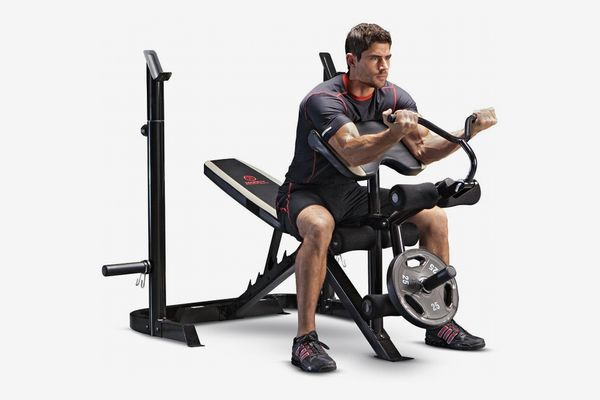 Marcy Adjustable Olympic Weight Bench with Leg Developer and Squat Rack