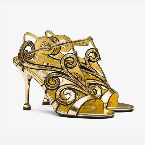 Prada Baroque-Style Sandals