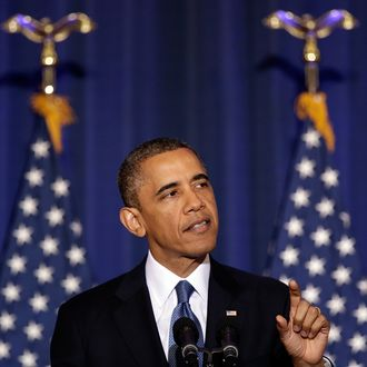 U.S. President Barack Obama speaks at the National Defense University May 23, 2013 in Washington, DC. Obama used the speech to outline and justify his administration's counterterrorism policy, including increased cooperation with Congress on matters of national security, added transparency regarding the use of drones, and a review of current threats facing the United States.