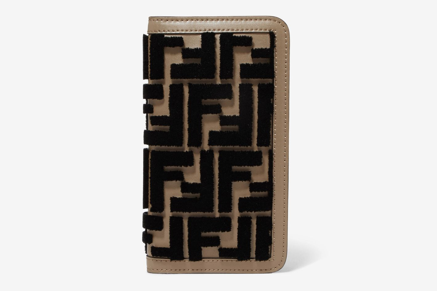 Fendi Flocked leather iPhone X case