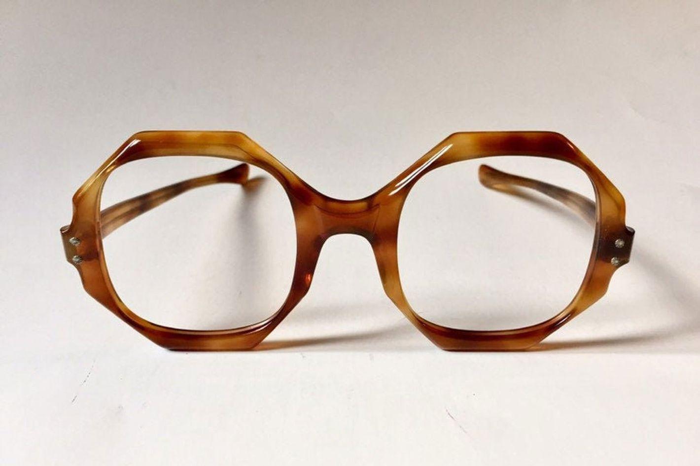 Etsy 60s Large Eyeglasses