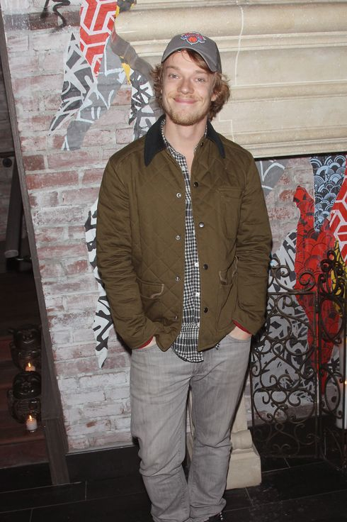 "NEW YORK, NY - NOVEMBER 11:  Actor Alfie Allen attends the FilmDistrict & Complex Media with The Cinema Society & Grey Goose screening of ""Oldboy"" after party at TAO Downtown on November 11, 2013 in New York City.  (Photo by Jim Spellman/WireImage)"