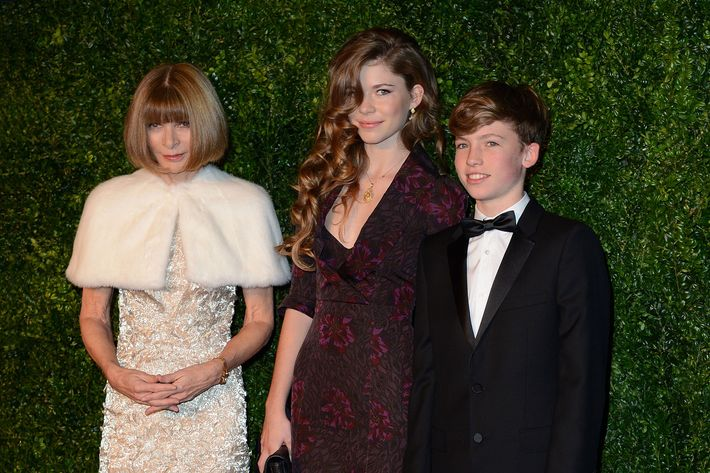 Anna Wintour and little Wintours.