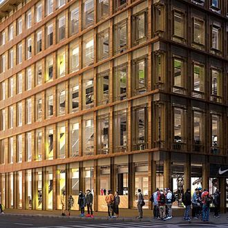 19cdc1d233b The Strange State of New York's Street-Level Retail Storefronts. By Justin  Davidson. Nike Soho.