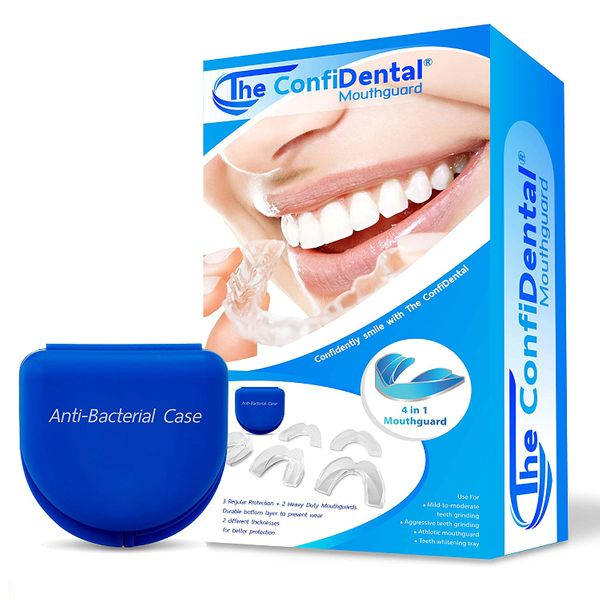 The ConfiDental Pack of 5 Moldable Mouth Guards