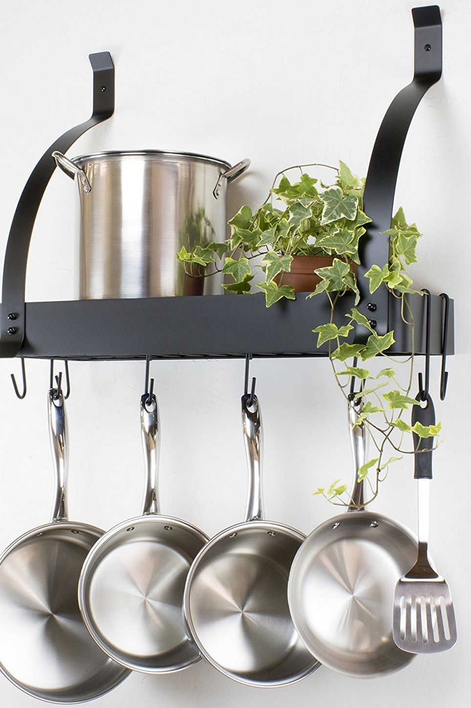 Contour Essentials Stainless Steel Wall Mounted Kitchen Pot Rack