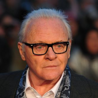 British actors Anthony Hopkins poses on the red carpet as he arrives for the UK film premiere of 'Hitchcock' in central London on December 9, 2012. AFP PHOTO/CARL COURT (Photo credit should read CARL COURT/AFP/Getty Images)