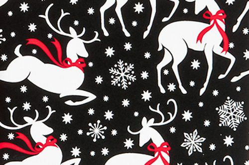 Reindeer and Snowflakes Christmas Holiday Gift Wrap Paper — 16 Foot Roll