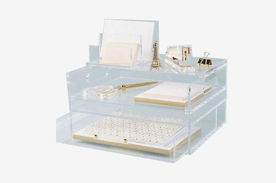 Russel + Hazel Acrylic Bloc Collection Desk Storage