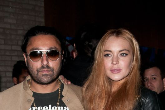 Lindsay Lohan attends the opening of Domingo Zapata's 'Life as a Dream' at VC Gallery at Dream Downtown hosted by Vikram Chatwal.