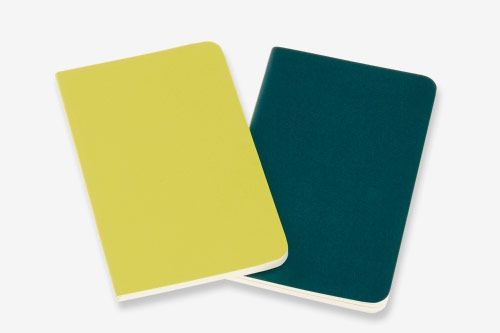 Volant Journals — Pine Green and Lemon Yellow (Plain, Pocket)