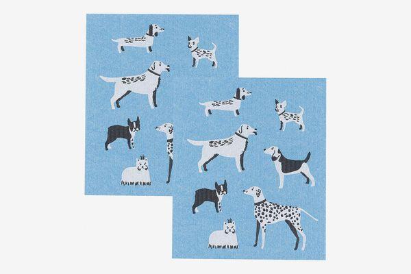 Now Designs Swedish Dishcloths Dog Days Print