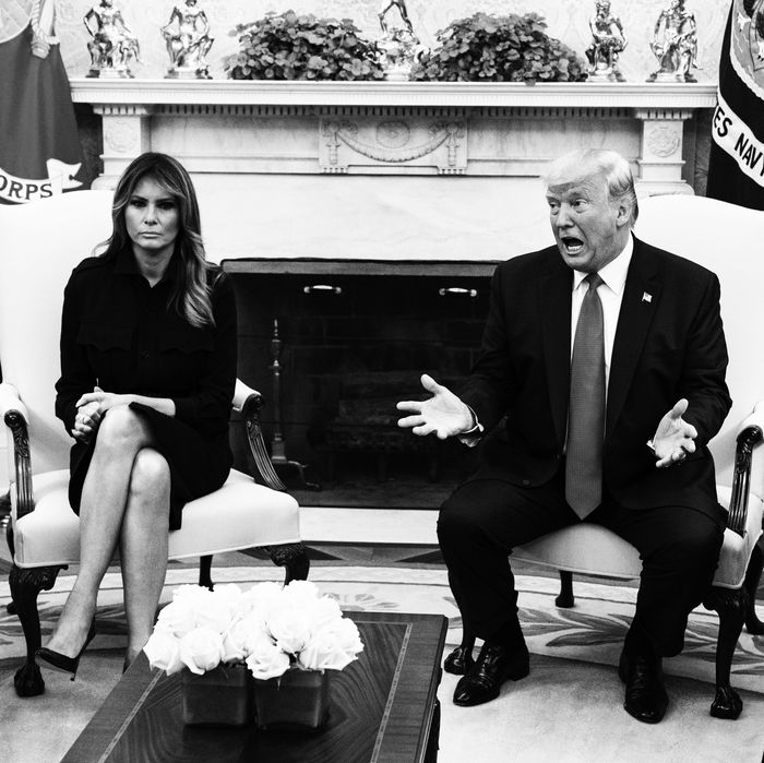 Melania Trump and Donald Trump.