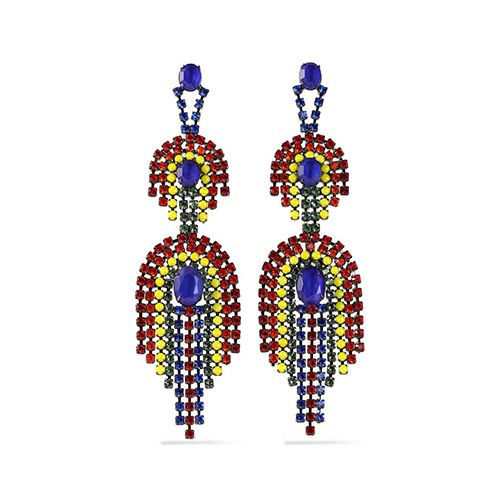 Elizabeth Cole Gold-tone crystal earring