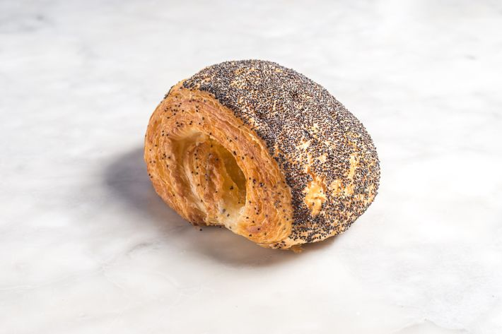Tebirkes: a flaky poppy-seed Danish, containing a mixture of butter, sugar, and marzipan.