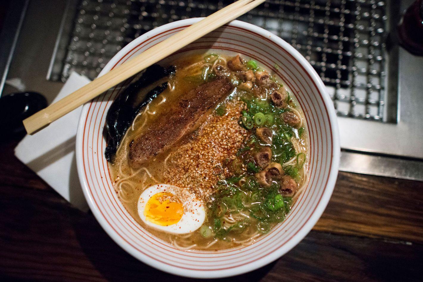 Wells liked Takashi's late-night ramen.