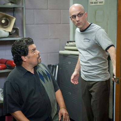 Luis Guzman as Luis Guzman, Jim Rash as Dean Pelton in Community Episode 308: