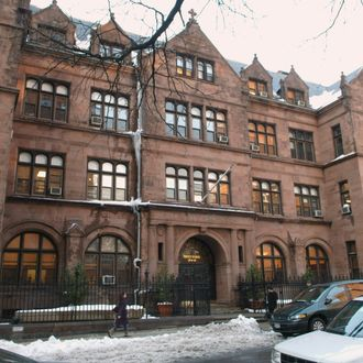 The Trinity School is pictured in New York on Tuesday, February 14, 2006. The cost of attending certain private schools in New York City will exceed $30,000 for the first time next year, more than undergraduate tuition at Harvard University. Photographer: Daniel Acker/Bloomberg News.