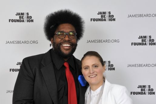 Of course April Bloomfield celebrates with Questlove.