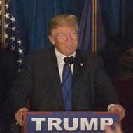 Presidential Candidate Donald Trump Holds New Hampshire Primary Watch Party