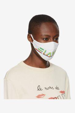 Lanvin Two-Pack Black & White Logo Face Masks