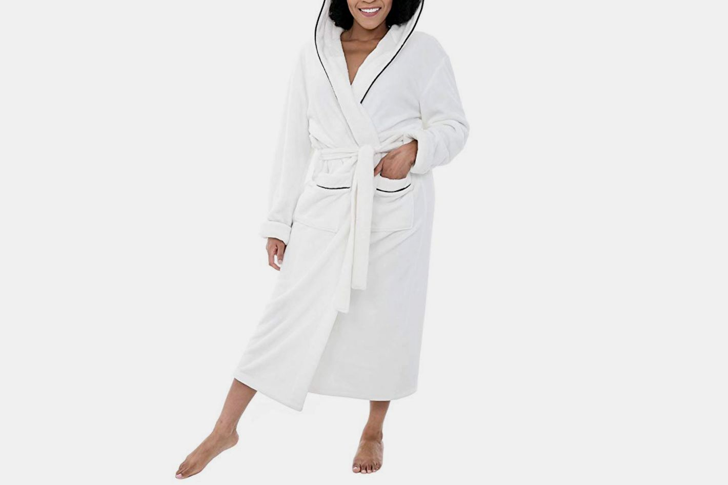 b3d31b46b4 Alexander Del Rossa Womens Fleece Solid Robe at Amazon