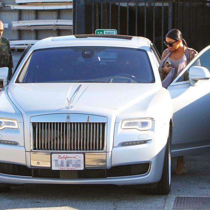 Kim's custom Rolls, bought with Kim's money.