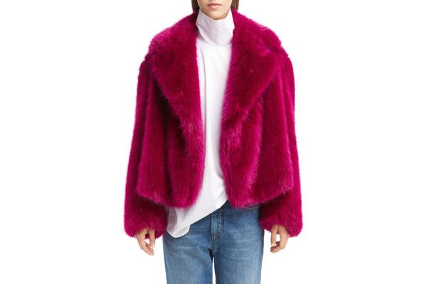 Dries Van Noten Short Faux Fur Jacket