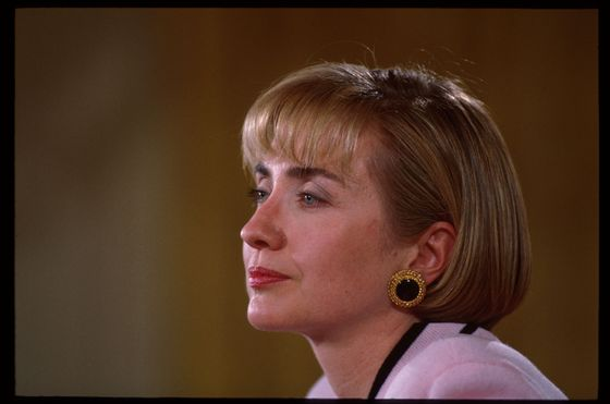 "In a 2001 commencement address at Yale, Hillary Clinton warned graduates: ""Pay attention to your hair. Because everyone else will."" Through the years, Hillary's hair has been long and short, sleek and voluminous. And her no-nonsense headbands, hair clips, and scrunchies have shown she's got more on her mind than the hair on her head. Maybe with her freshly cropped bob, Clinton's signaling she's ready for the next chapter?"