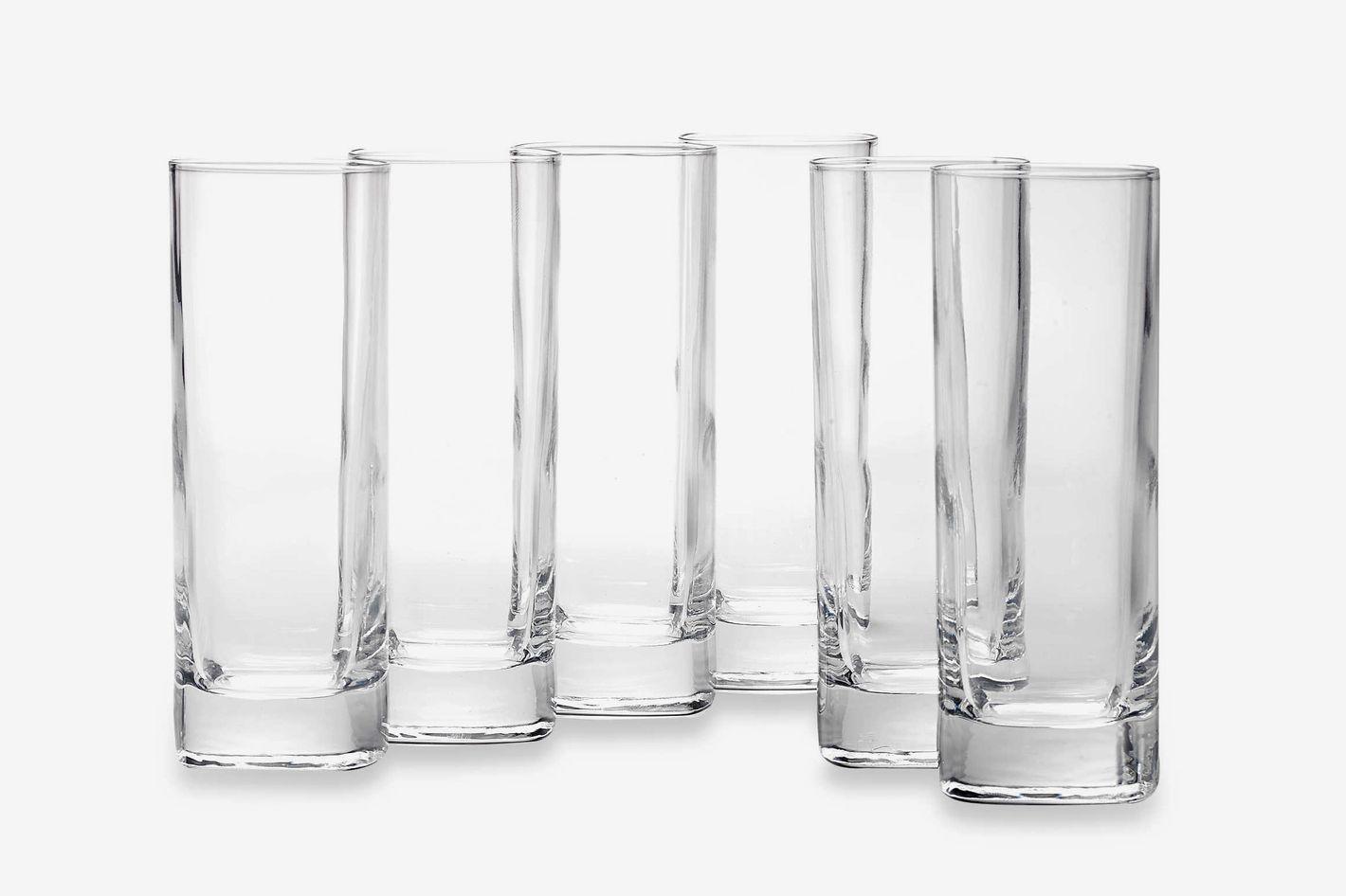 Luigi Bormioli Strauss SON.hyx Square Highball Glasses (Set of 6)