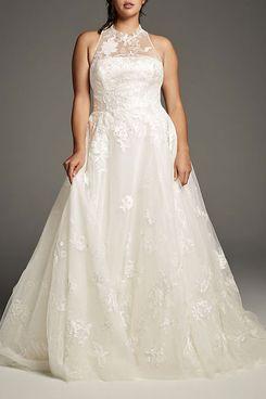 White by Vera Wang Floral Plus Size Wedding Dress