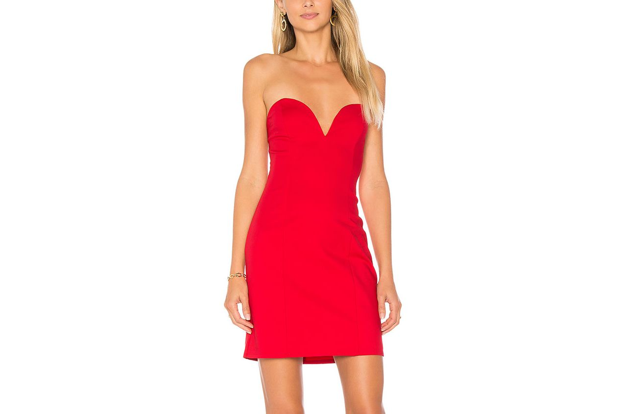 by the way Alessia Sweetheart Bodycon Dress