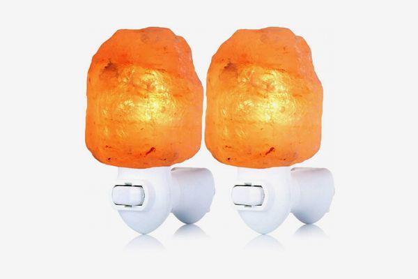 Pursalt Original Himalayan Salt Lamp, 2-Pack