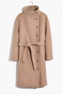 Madewell Copenhagen Belted Coat in Insuluxe Fabric