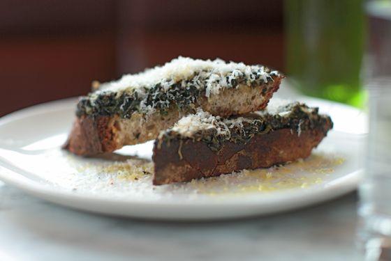 The nettle toast at Reynard.